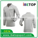 Slim Stylish 100% cotton High Quality Customized Logo Printed Blank long sleeve Polo Shirt