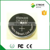 cr2032 rechargeable battery 3V Maxell coin battery lithium primary cell