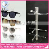 Wholesale High Quality Retail Free Standing Acrylic Sunglasses Rayban Display With 4PCS Glasses