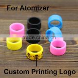 diameter 18/22mm deboss/emobss/printing soft custom silicone vape bands for dab wax mod vaporizer