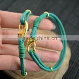 LFD-B0012 ~ New Design Sheepskin High Quality Braided Multilayer Leather Cords Bracelets & bangles Charm Men Women Jewelry