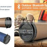 Big sound Large Tube Bluetooth speaker with 3 bass speaker with carry strap portable to carry