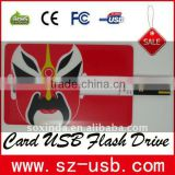 Hot sale promotional super thin custom printed flash cards printing with free logo real capacity