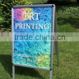 mitred square corner economical A board outdoor double sided A1 snap aluminum pavement sign stand