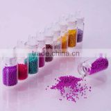 Colourful Nail Art Decoration accessory.Size: 0.6-0.8mm.caviar glass ball nail art accessories