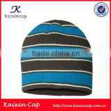 high quality custom logo simple 100% acrylic fabric Waffle Knit winter beanie hats for men