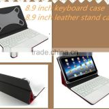 Stitching technic keyboard tablet case 8.9 inch tablet pc bluetooth keyboard case with mouse pad