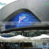 Shen Zhen factory Piranha series 3 in1 full color outdoor curved led advertising display/led flexible billboard