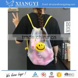 Customized logo printing adorable EVA warterproof shopping bag drawstring bag for summer