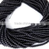 5 Strands Black Pearl Smooth 4.5mm Rondelle Glass Pearl Beads Strands,Acrylic Pearl beads,Jewelry Pearl,Pearlized Beads,