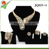 JQ025-4 evening dress 2016 nigeria beads jewelry set crystal shoes and bags to match