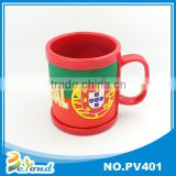 Soft pvc mug cup for 2014 brazil world cup