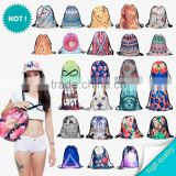 3d digital print mochila drawstring bag unisex backpacks aztec animal galaxy monkey dog hamster flower food