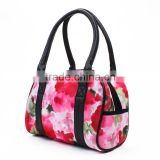 High quality flower printing neoprene tote bag for woman