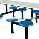 fast food table and chairs