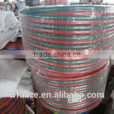 five layers red and green pvc twin welding hose reel