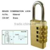 Heavy duty brass padlock locking marine door lock combination zipper lock