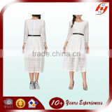 Chian factory Excellent quality best selling unique woman white dress lace long prom dress