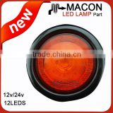 4inch Round LED Tail Rear Light for Trailer Truck Bus