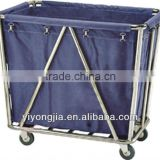 Foldable Hotel Trolley Room Service Carts with wheels/guest room service carts/linen trolley service carts
