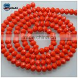Orange glass beads wholesale multiple uses crystal beads for jewelry&bracelet&necklace