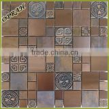 vintage Cooper metal mosaic tile for backsplash, kitchen