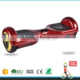 2015 new design 2 wheels smart electric self balance standing scooter with roof skateboard deep red colour