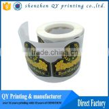 full color printing high quality food labels,self adhesive paper sticker label for food bottles