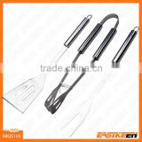 3 pieces stainless steel BBQ grill tool set
