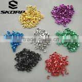 Anodized Colors Bicycle Parts Distributors Bike Brake Parts Metal Cable Clip