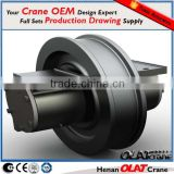 3D Design Drawing Customizable High performance ELK forged crane wheel from single bridge crane