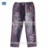 (G099) NOVA brand clothing wholesale 2015 hot sale fancy gilrs long pants children cowboy trousers girl jeans