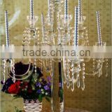 Bling tall crystal candle holder with high quality in china