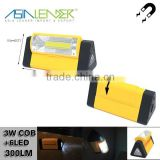 for Emergency, Working, Car Repair, 4*AAA Battery Powered 2 Brightness Level Light with Adjustable Light & Magnet COB Worklight