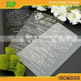 JLP New design acrylic wedding invitation card ,muslim wedding invitation card                                                                         Quality Choice