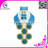 Top selling 2015 fashion jewelry sets shinning purl beads with multi color to matching wedding dress