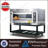 Hot Sale Stainless Steel K266 1-Layer 2-Tray Freestanding/Tabletop Bakeries Portable Gas Oven