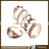 European hot sales antique gold plated vintage finger ring sets engagement ring