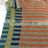 Open End Wholesale Fabric Hot Sale Cotton Polyester Blend Color Knitting Fabric For Striped T-shirt
