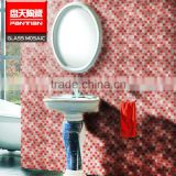 Base price pink glass mosaic tiles crystal bali mosaic tile                                                                                                         Supplier's Choice