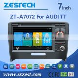 HOT sell 7inch auto steering wheel for Audi with WINCE 6.0 system 3G WiFi OBDII DVR function