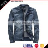 Whlesale Hot Sale men jean Jacket heavy 100%cotton wash with high quality autumn winter jacket brand jean jacket