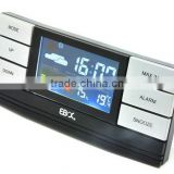 2014 New promotional color display radio controlled with temperature and calendar alarm clock
