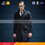 Europe Style mink hair stand collar cashmere wool overcoat for man OEM design winter wool long overcoat