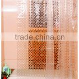 2015 new product eco-friendly new 3D elegant pattern EVA shower curtain, Plastic Transparent 3d eva Vinyl shower curtain