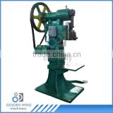 Semi-automatic depressing and flanging machine for tea/biscuit tin can making production line