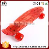 Top OEM PU Wheels ABS Fish Shape Skateboard