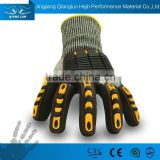 Top Quality 13 Guage Cut resistant HPPE Coated Black Nitrile mechanical work gloves en388
