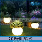 outdoor/indoor led light planter pot,decorative led garden flower pots