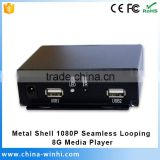 New Hot Sex nand flash 8G hd 1080p decode digital media player box video wall controller